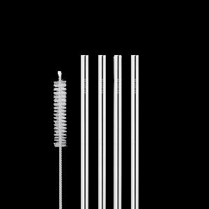 Korte sugerør i stål